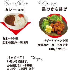 カレーと鶏のから揚げ
